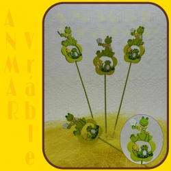Zápich žabka kvet 12ks 324113