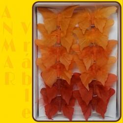 Motýľ 8cm pierko Oranžový 346965