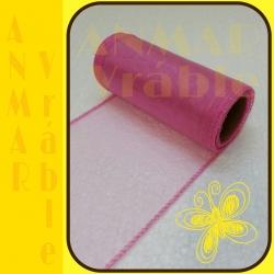Organza 12cm Ružová