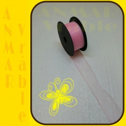 Organza 4cm Ružová svetlá