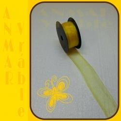 Organza 4cm Žltá