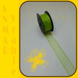 Organza 4cm Zelená