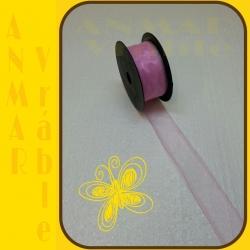 Organza 4cm Ružová