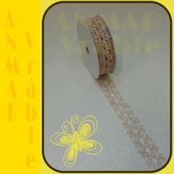 Azúrová stuha 3cm Béžová