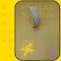 Azúrová stuha 3cm Biela 1