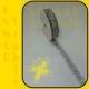 Azúrová stuha 3cm Strieborná