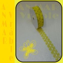 Azúrová stuha 3cm Žltá