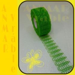 Plot stuha 5cm Zelená