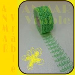 Plot stuha 5cm Zelená svetlá