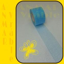 Stuha sieťka rexor 5cm Modrá