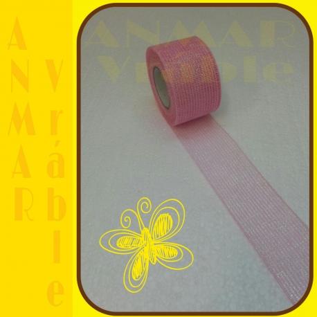 Stuha sieťka rexor 5cm Ružová