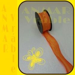 Tafta stuha 4cm Oranžová