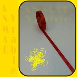 Satén stuha 1,2cm Červená