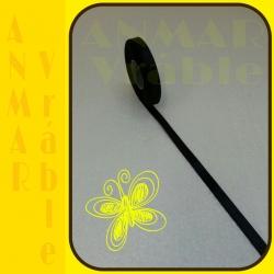 Satén stuha 1,2cm Čierna