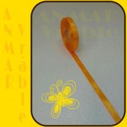 Satén stuha 1,2cm Oranžová