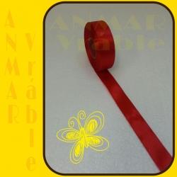 Satén stuha 2,5cm Červená