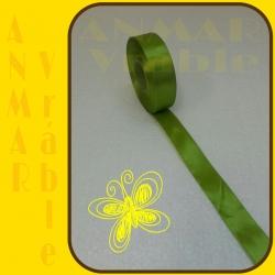 Satén stuha 2,5cm Zelená