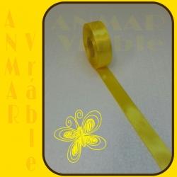 Satén stuha 2,5cm Žltá