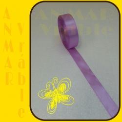 Satén stuha 2,5cm Fialová sweet
