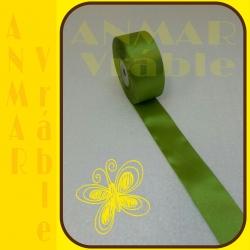 Satén stuha 3,8cm Zelená
