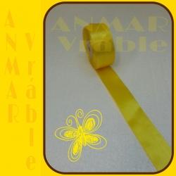 Satén stuha 3,8cm Žltá