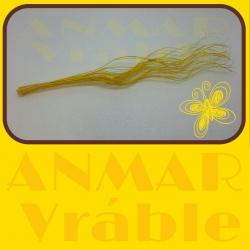 Curly willow 70cm Žltá