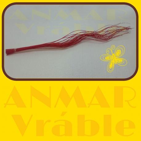 Curly willow 70cm Červená