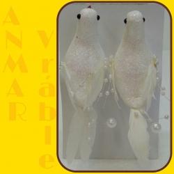 Vtáčik 2ks Biely
