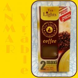 Čajové sviečky 2ks Káva