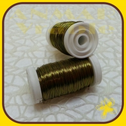 Drôt návin hladký Olivová svetlá H7A