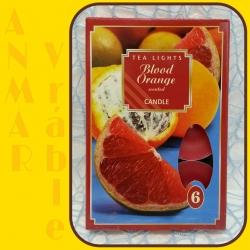 Čajová sviečka 6ks Krvavý Pomaranč