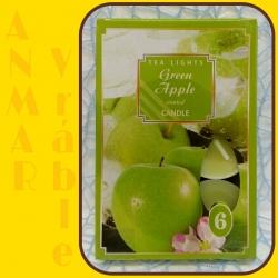 Čajová sviečka 6ks Zelené Jablko