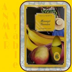 Čajová sviečka 6ks Mango a Banán