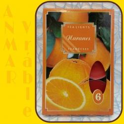 Čajová sviečka 6ks Pomaranč