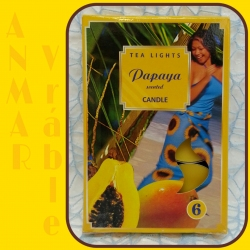 Čajová sviečka 6ks Papaya
