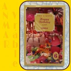 Čajová sviečka 6ks Šťastné Narodeniny