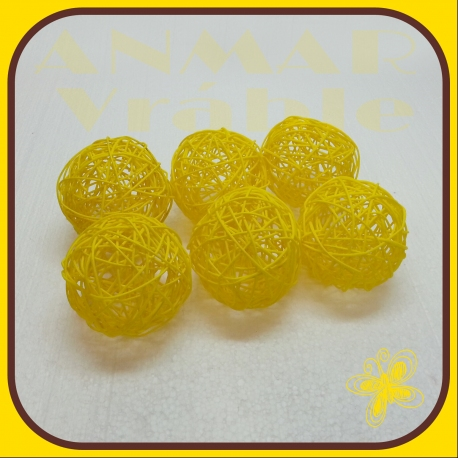 Latta ball 10cm Žltá