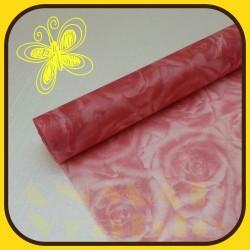 Vlizelín vzor 50cm Červená svetlá RUŽ