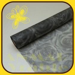 Vlizelín vzor 50cm Čierna
