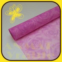 Vlizelín vzor 50cm Ružová tmavá RUŽ