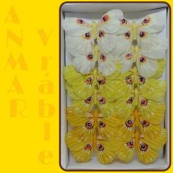 Motýľ 12cm 287415 Žltá