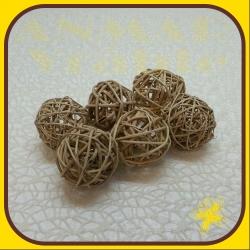 Branch ball 6cm Natur