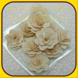 Deco rose 10ks Biela natur