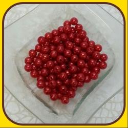 Perly 10mm Červená