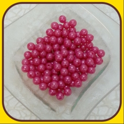 Perly 10mm Ružová tmavá