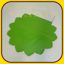 Celofán kruh 40cm Zelená