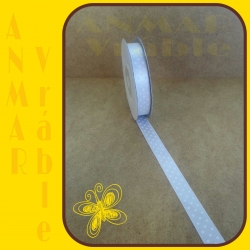 Satén stuha vzor 1,2cm Biela