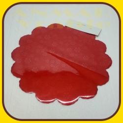 Celofán kruh 50cm Červená