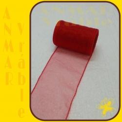 Organza 8cm Červená QQ09