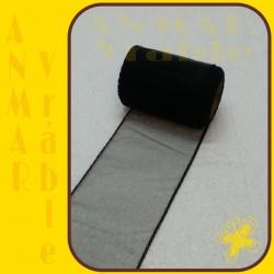Organza 8cm Čierna QQ44